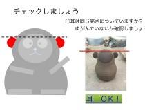 デジタル手順表~作業学習:窯業編 らくらく!さるのえと作り②【自作】