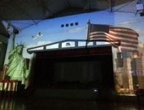 プロジェクションマッピングde 舞台背景
